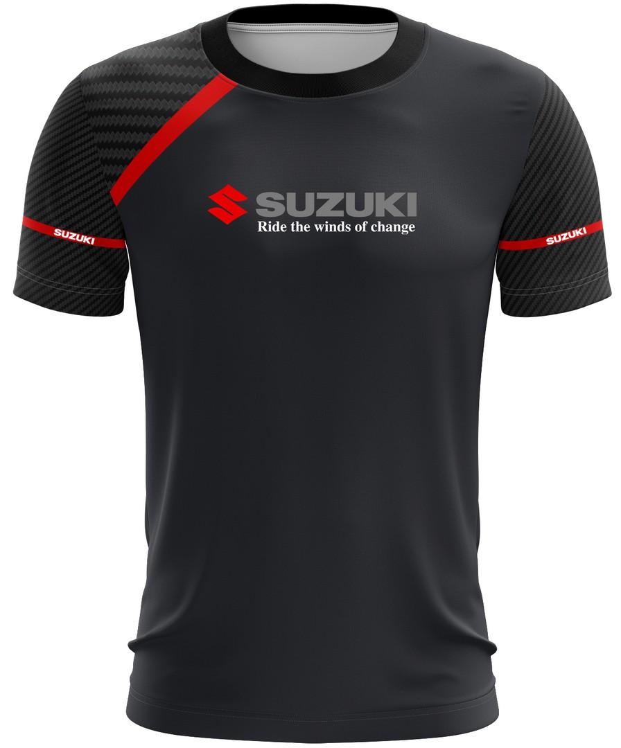 Camiseta Suzuki Casual 01 Brk Motociclismo Tecido Dry