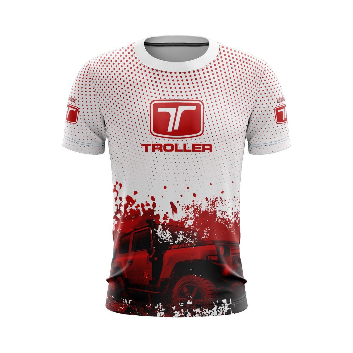 Camiseta Troller Casual 03 Brk Off Road Tecido Dry