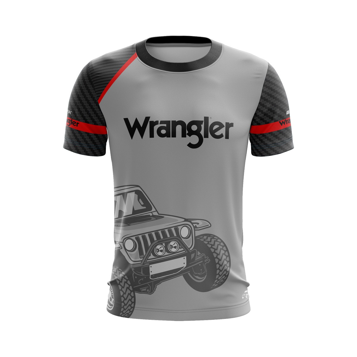 Camiseta Wrangler Casual 01 Brk Off Road Tecido Dry