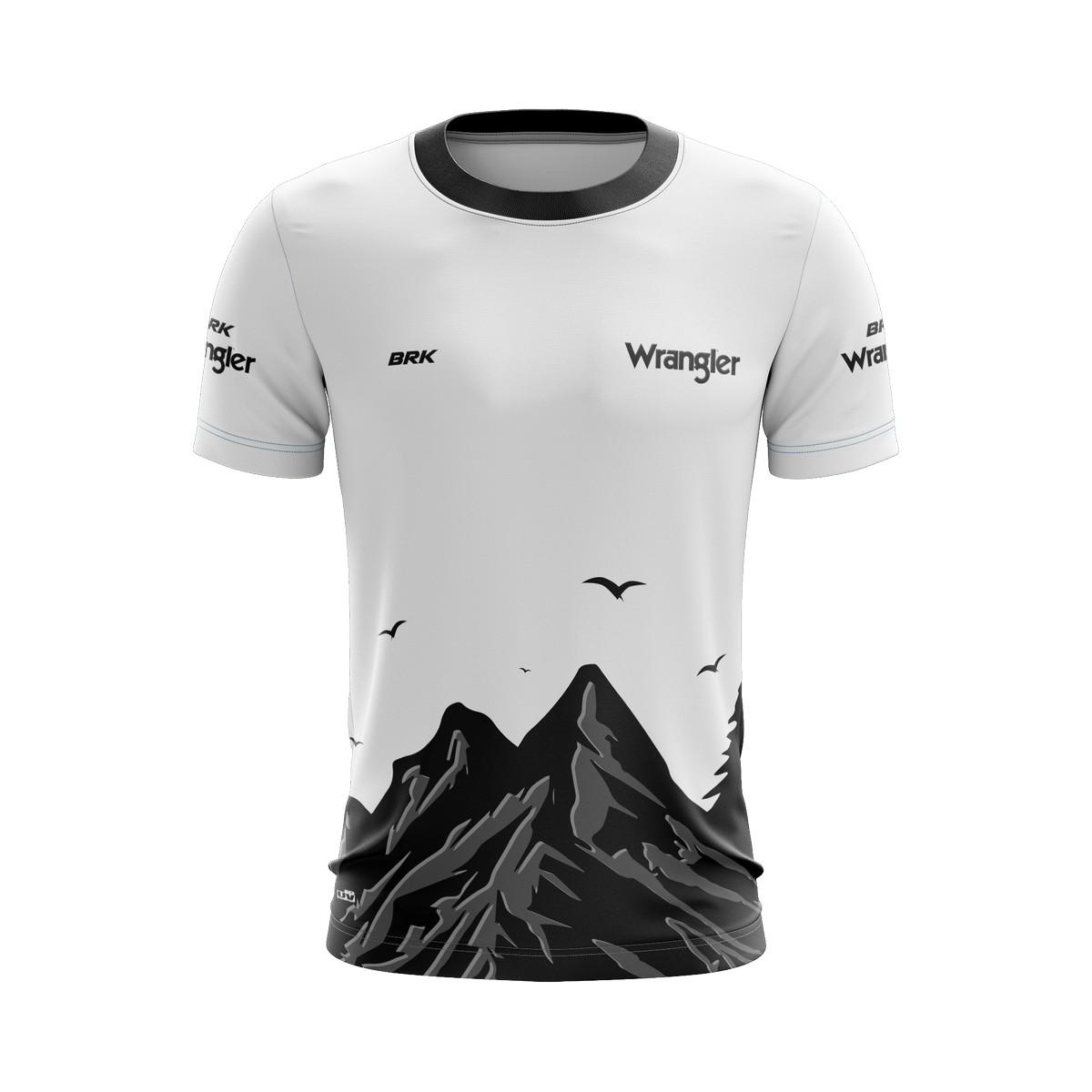 Camiseta Wrangler Casual 03 Brk Off Road Tecido Dry