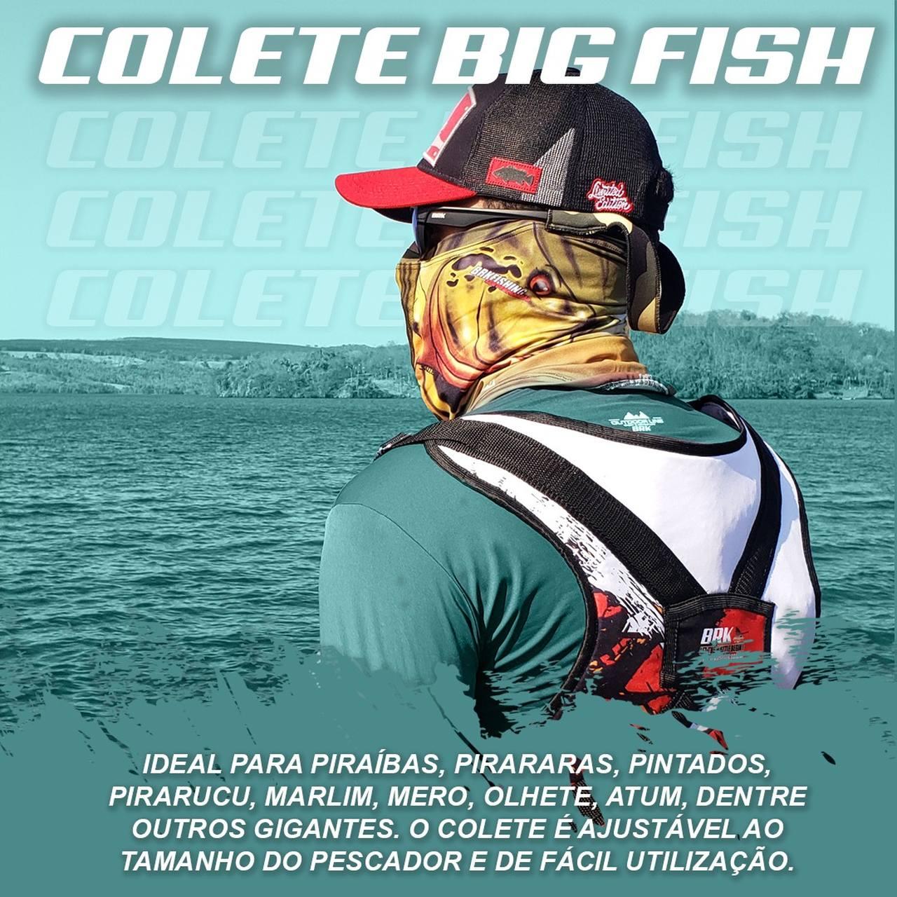 Colete para Carretilha para Pesca Pesada Brk Big Fish Sea Fishing