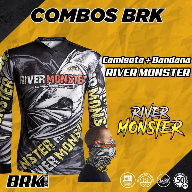 Combo River Monster Brk Camiseta + Bandana com FPU 50+