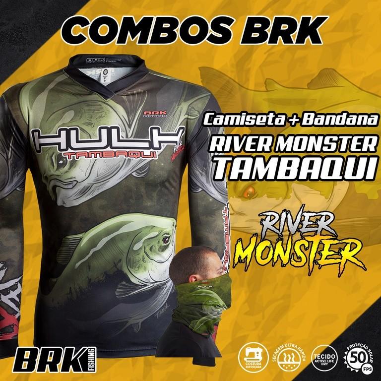 Combo River Monster Brk Tambaqui Camiseta + Bandana com FPU 50+