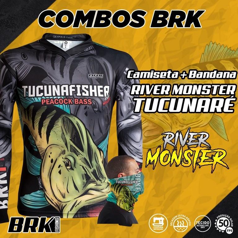 Combo River Monster Brk Tucunaré Camiseta + Bandana com FPU 50+