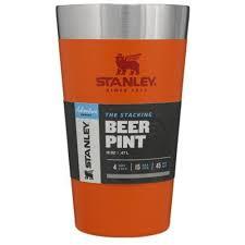 Copo Térmico Stanley De Cerveja Sem Tampa 473ml Laranja Orange