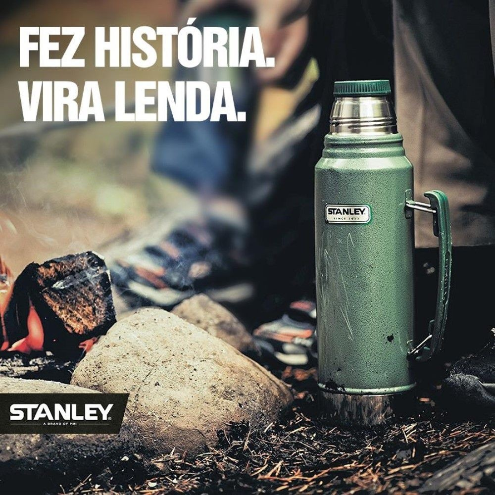 Garrafa Térmica Stanley Classic Verde Green Hammertone 1L