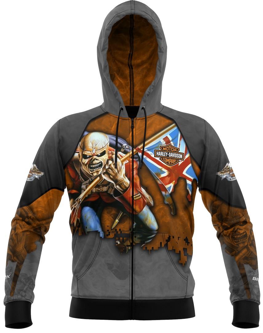 Jaqueta Esportiva Brk Harley Davidson e Iron Maiden