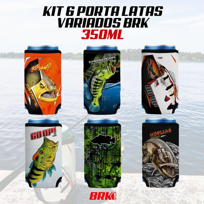 KIT 06 PORTA LATAS VARIADOS BRK 350 ml NEOPRENE 3MM
