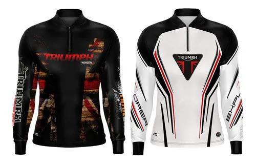 Kit 2 Camisetas Triumph Motociclismo Brk Com Fpu 50+