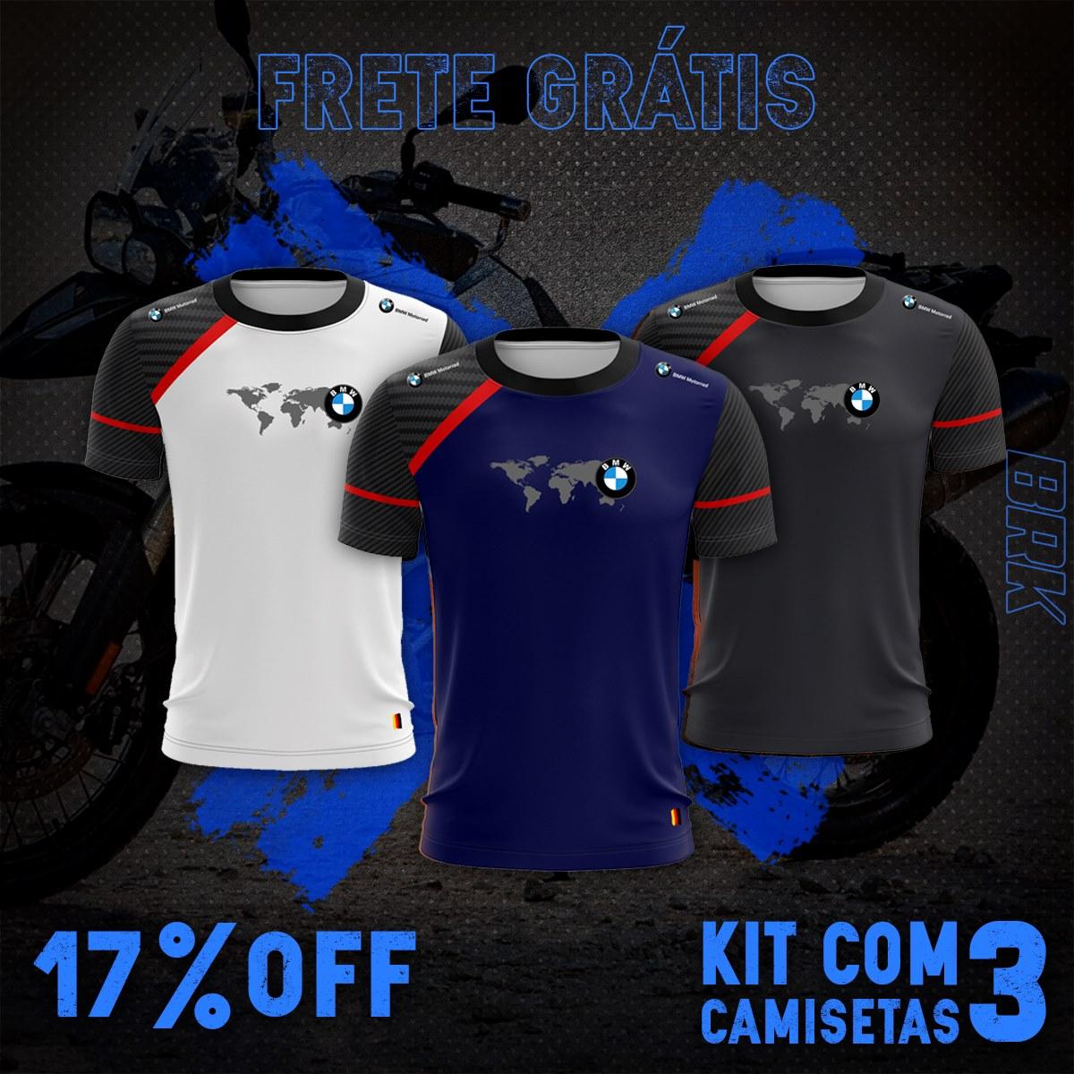 Kit 3 Camisetas Brk Motociclismo Bmw com FPU 50+