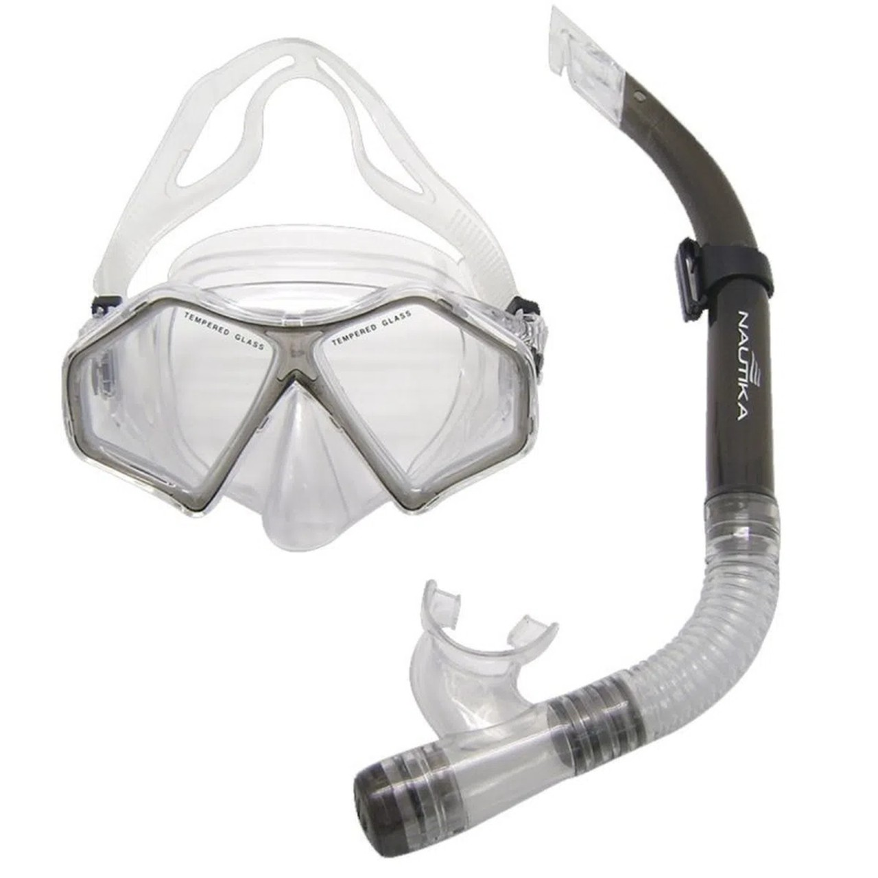 Kit de snorkel para mergulho preto - SPIDER