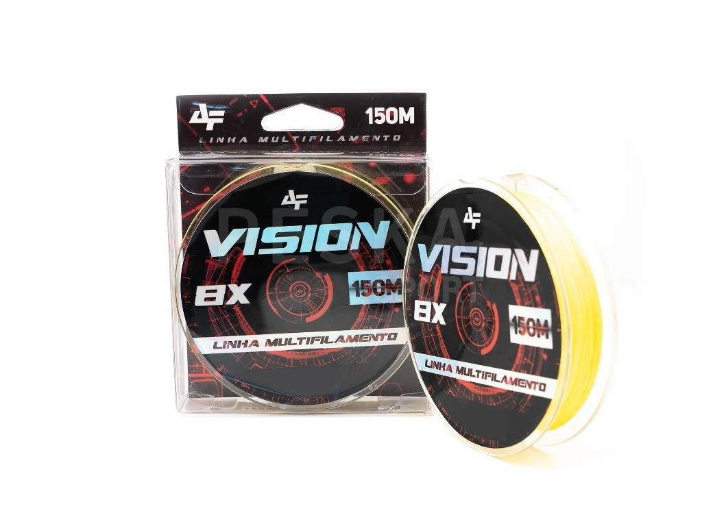 Linha de pesca VISION X8 150m Yellow 0,23