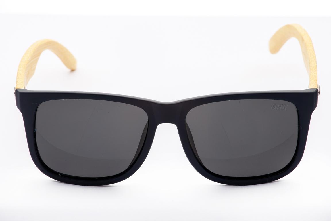 Óculos de Sol Polarizado Brk Casual 06 Wood Preto Fosco Escuro
