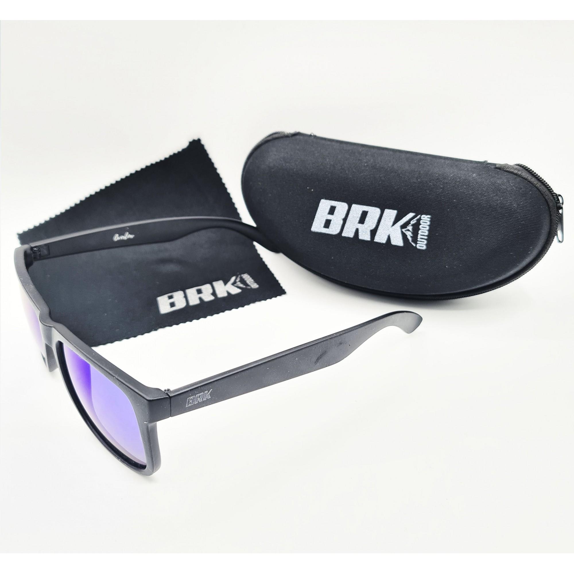 Óculos de Sol Polarizado Brk Overlow Azul