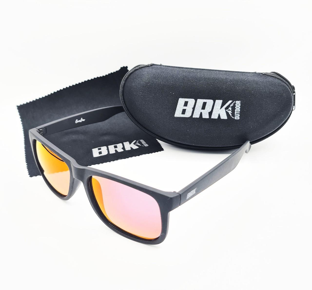 Óculos de Sol Polarizado Brk Overlow Vermelho