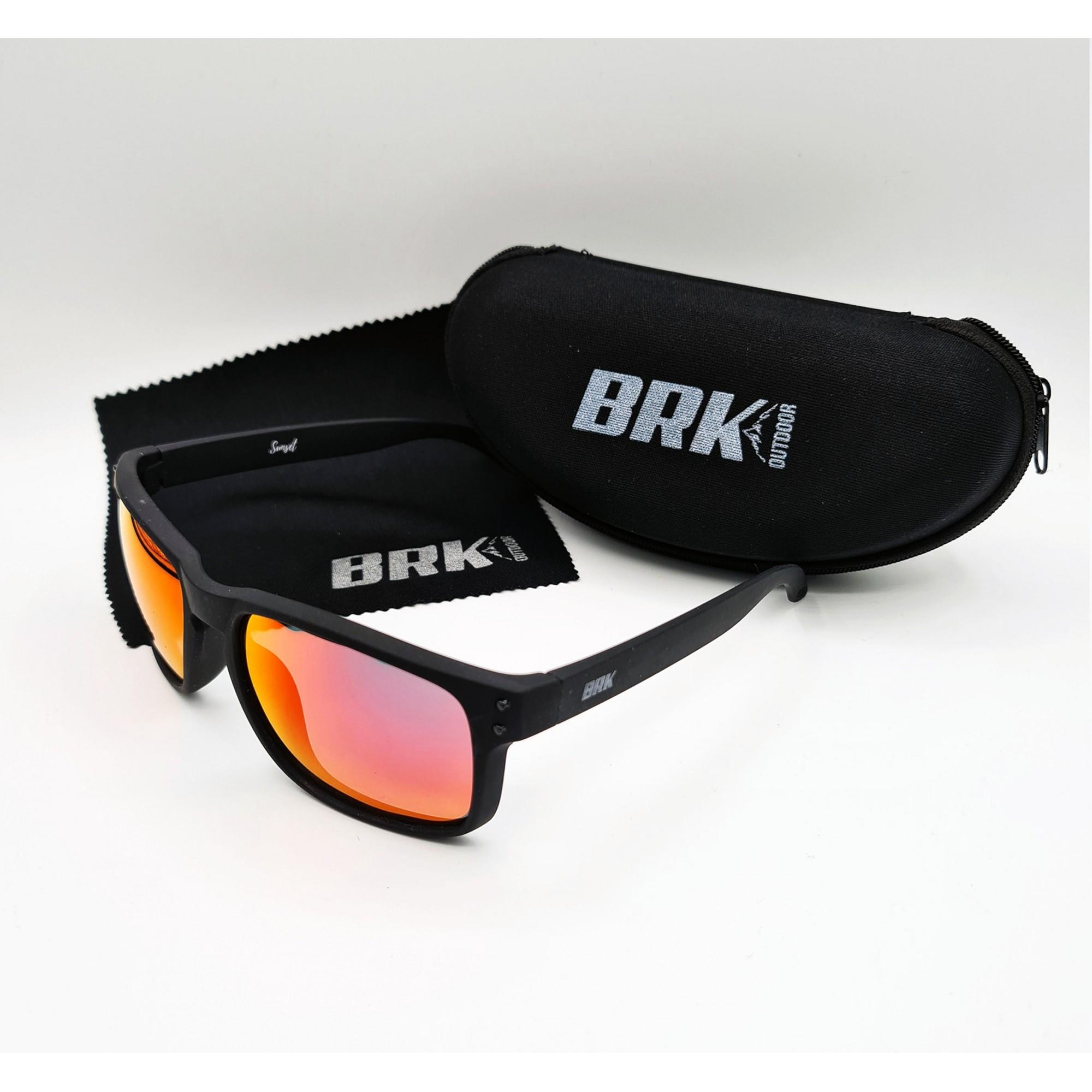 Óculos de Sol Polarizado Brk Sunset Vermelho
