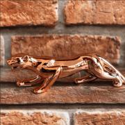 Enfeite de Porcelana Leopardo Cromado