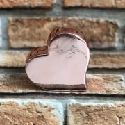 Enfeite Decorativo Coração Cromado de Cerâmica