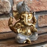 Estatueta Decorativa Ganesha Dourada