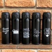Garrafa Térmica de Aço Inox 500 ml Preta