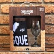 Kit Churrasqueiro Profissional Avental + Taça