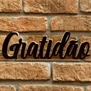 Palavra Decorativa Gratidão