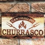 """Placa Decorativa """"Cantinho do Churrasco"""""""