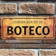 "Placa Decorativa ''Comida Boa Só de Boteco"""