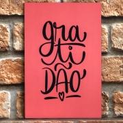 Placa Decorativa de MDF Coloridas Simplicidade Gratidão Recomeçar Davys