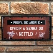 "Placa Decorativa de Metal ""Prova de Amor"""