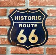 Placa Decorativa Historic Route 66