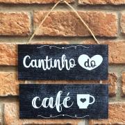 """Placa Decorativa NSW """"Cantinho do Café"""""""
