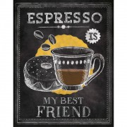 "Placa Decorativa Retangular ""Espresso Is My Best Friend"""