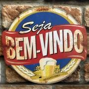 """Placa Decorativa """"Seja Bem-Vindo ao Santuário"""""""