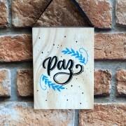 "Placa Pinus ""Paz"""