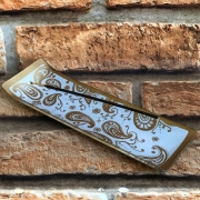 Porta Incenso Decorativo Régua de Vidro Mandalas