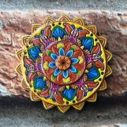 Porta Incenso Mandala Redondo