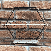 Prateleira Decorativa Nicho Hexagonal