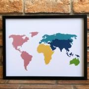 Quadro Decorativo Looks Mapa Mundi