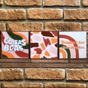 Trio de Quadros Composê Rose Gold Coisas Boas
