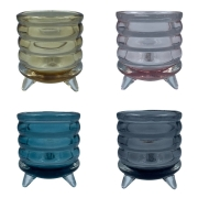 Vaso de Vidro Colorido Multiuso