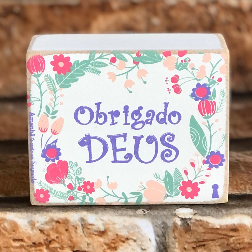 Box Decorativo Obrigado Deus