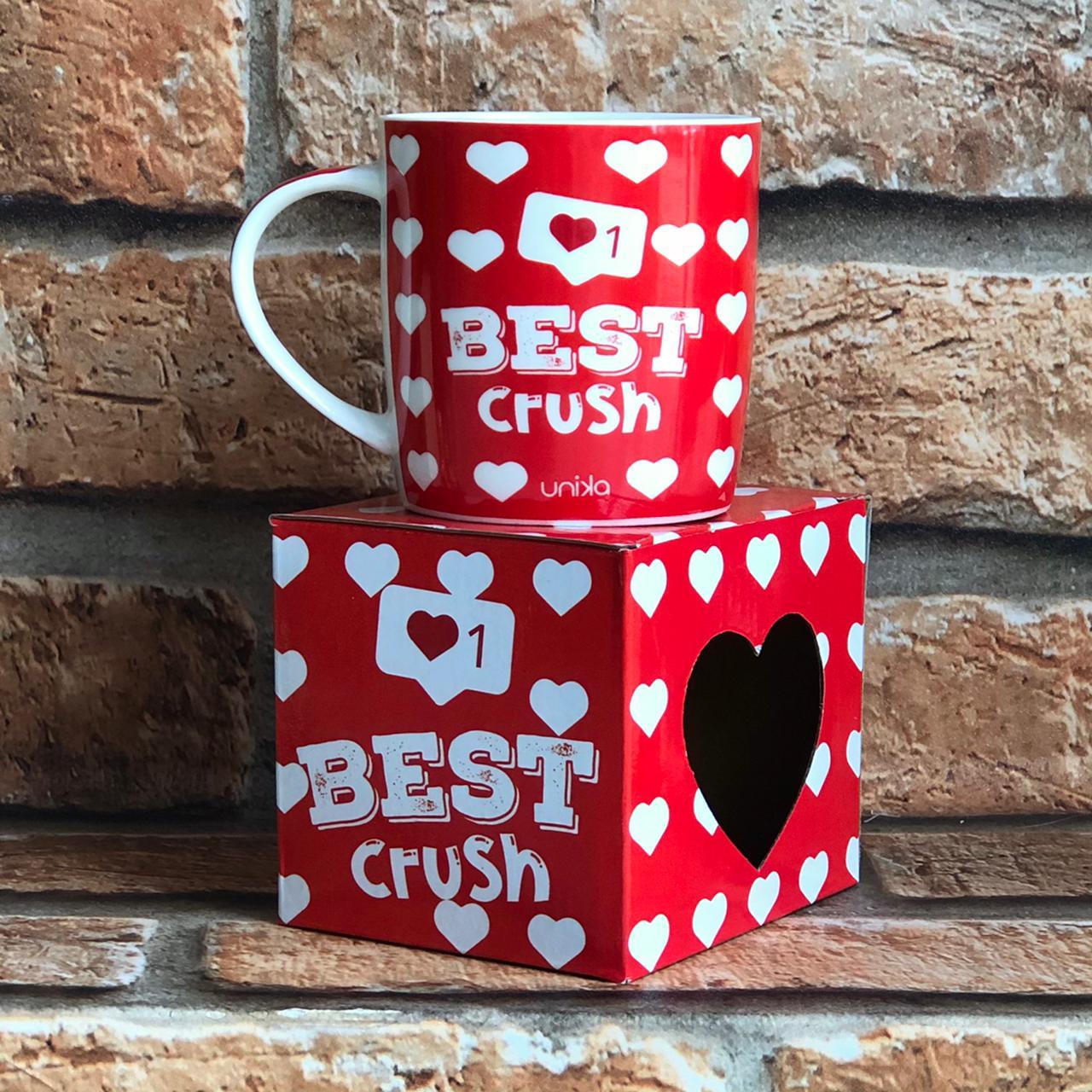 """Caneca """"Best Crush"""" Unika 390ml"""