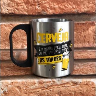 Caneca de Aço Inox para Cerveja
