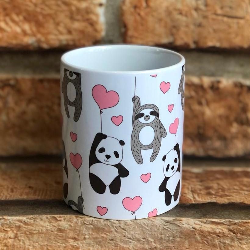 Caneca Personalizada Preguiça e Panda