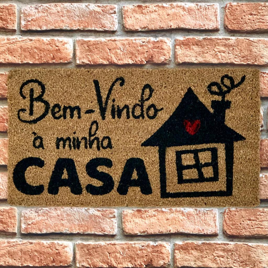Capacho Decorativo Fibra de Coco Estampas