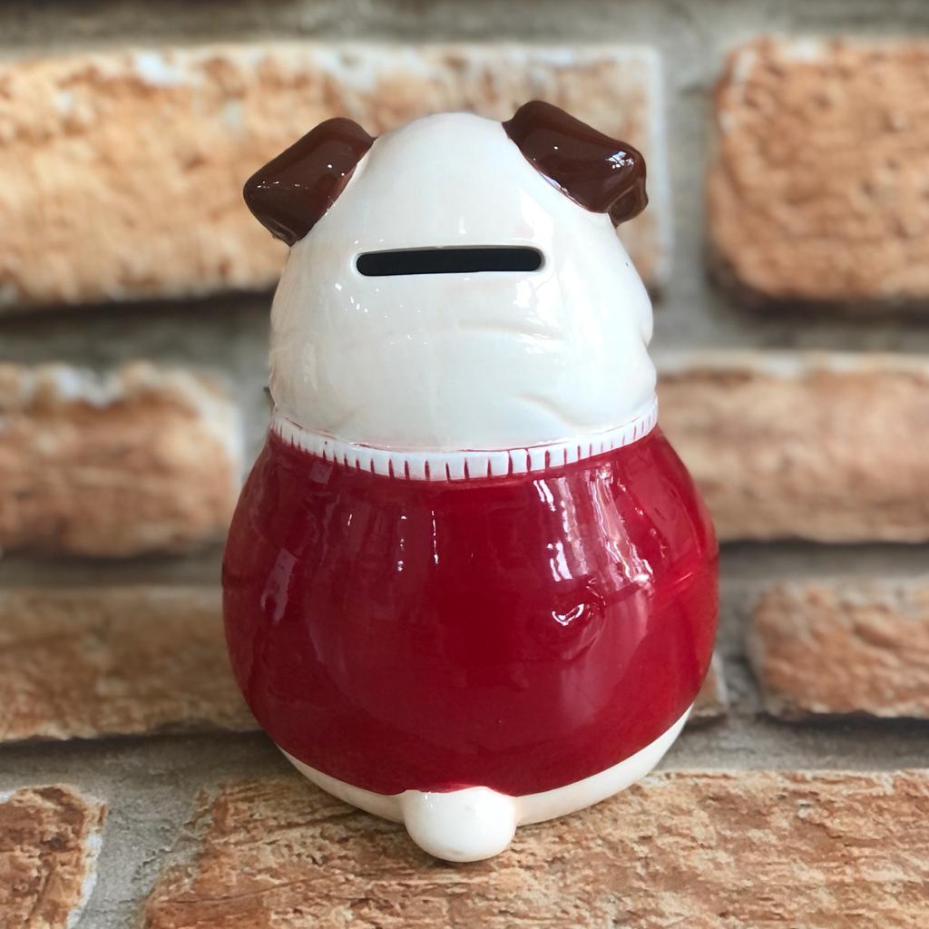 "Cofre Decorativo Pug ""I Puggin LoveYou"" Porcelana"