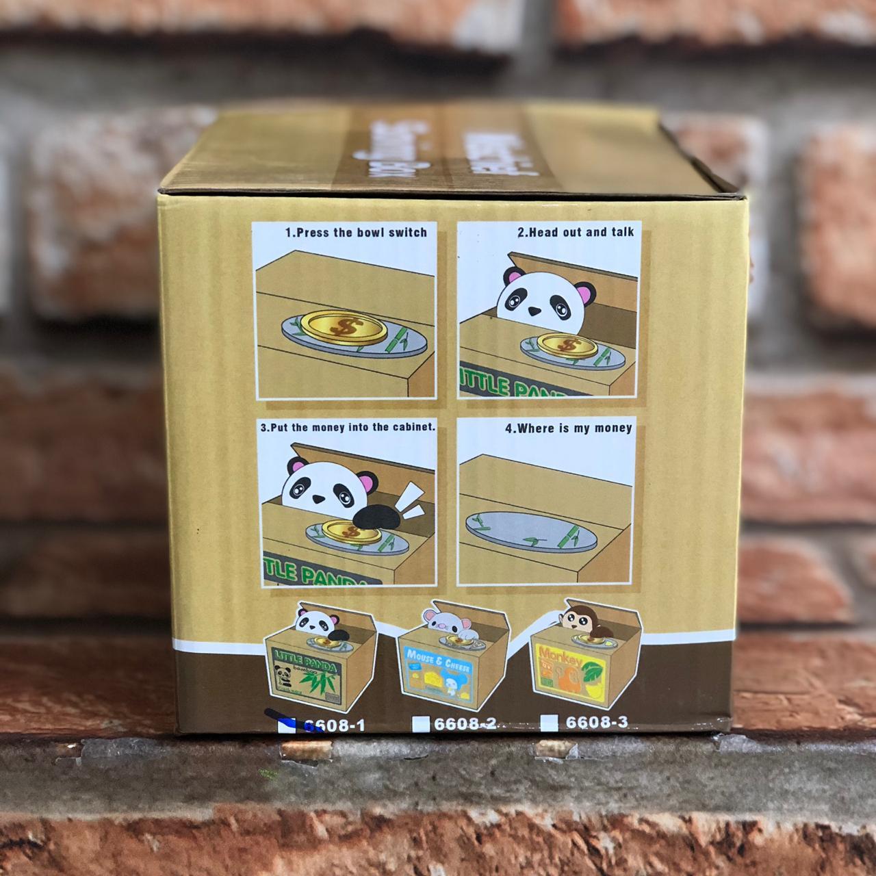 Cofre Panda Pega Moedas Bambu