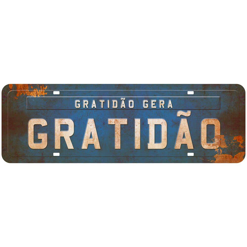 """Placa Decorativa """"Gratidão gera Gratidão"""""""