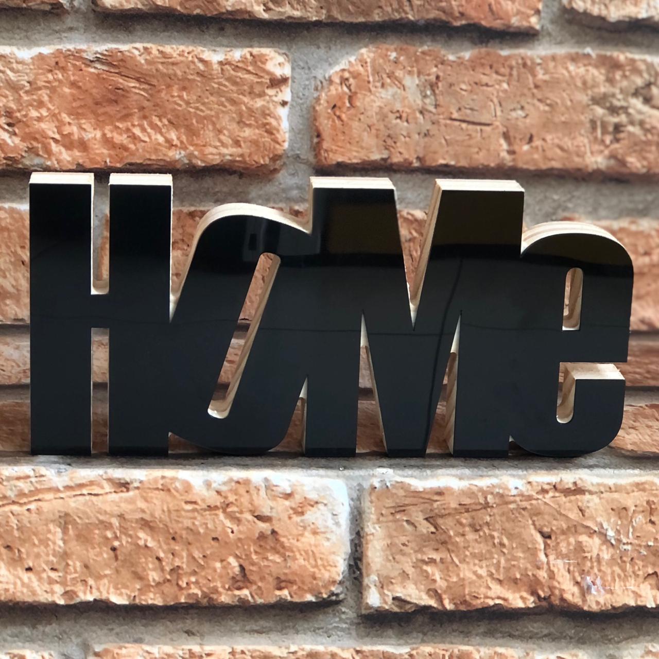 """Enfeite Decorativo """"HOME"""""""